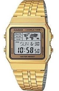 reloj casio a500wga-9df digital dorado