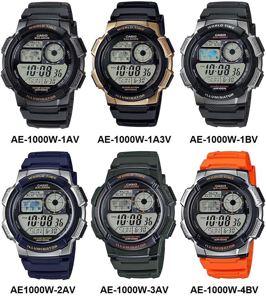 1000w Agua Años Casio Resiste Pila Ae Original Reloj 10 4bv f67bgymIYv