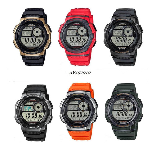 reloj casio ae-1000w 5 alarmas temporizador 100% original
