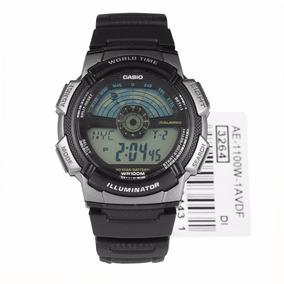 Reloj Origin 1a Casio Ae Caballero 1100w Negroplateado Para Ybvyf67g