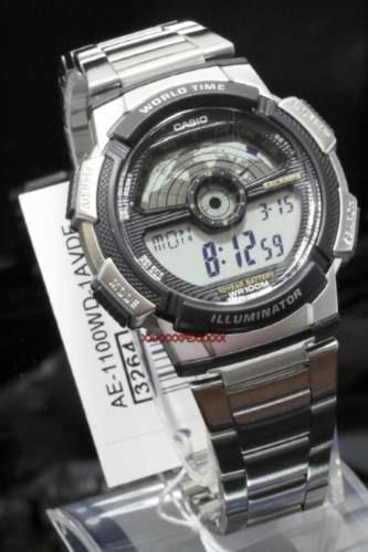 reloj casio ae-1100wd-1a en caja 1 año garantia