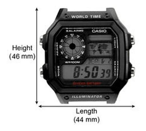 reloj casio ae-1200wh-1av resiste agua 100m pila 10 años