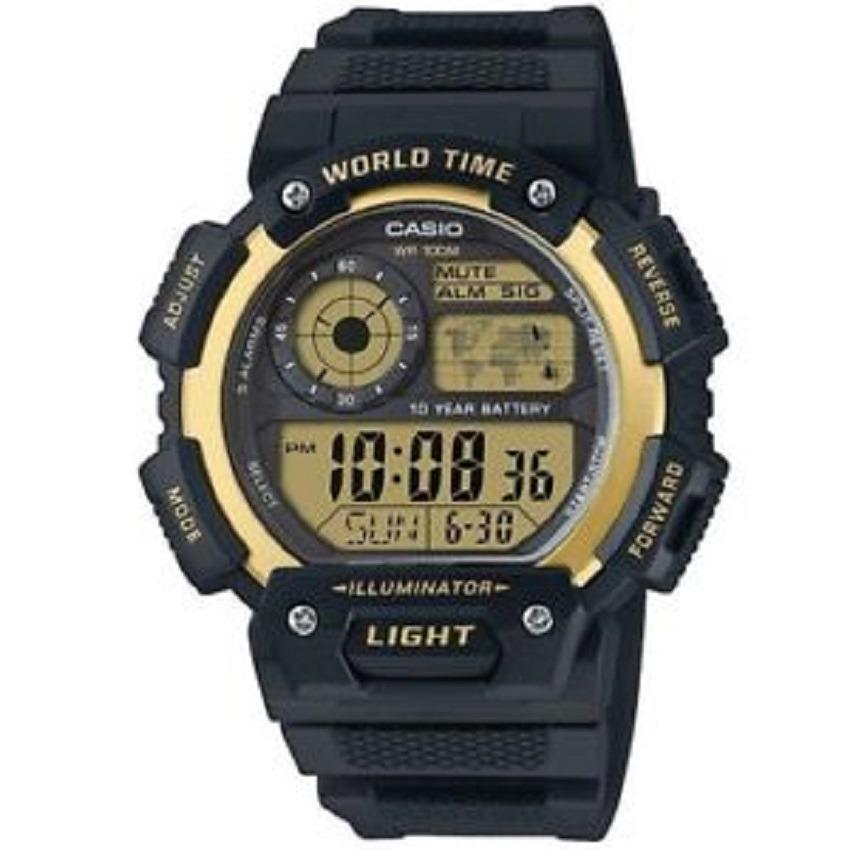 Reloj 9 Negro 1400wh Ae Hombre Casio Para Digital D2IeWbE9HY