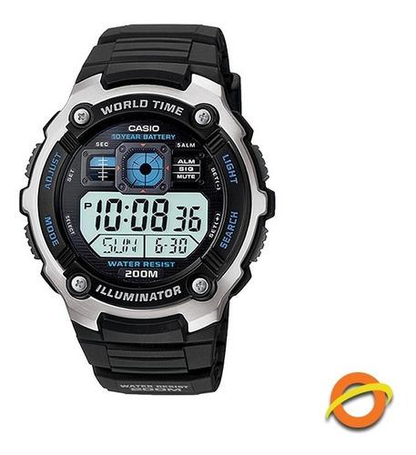 reloj casio ae-2000w digital hora mundial sumergible 200m