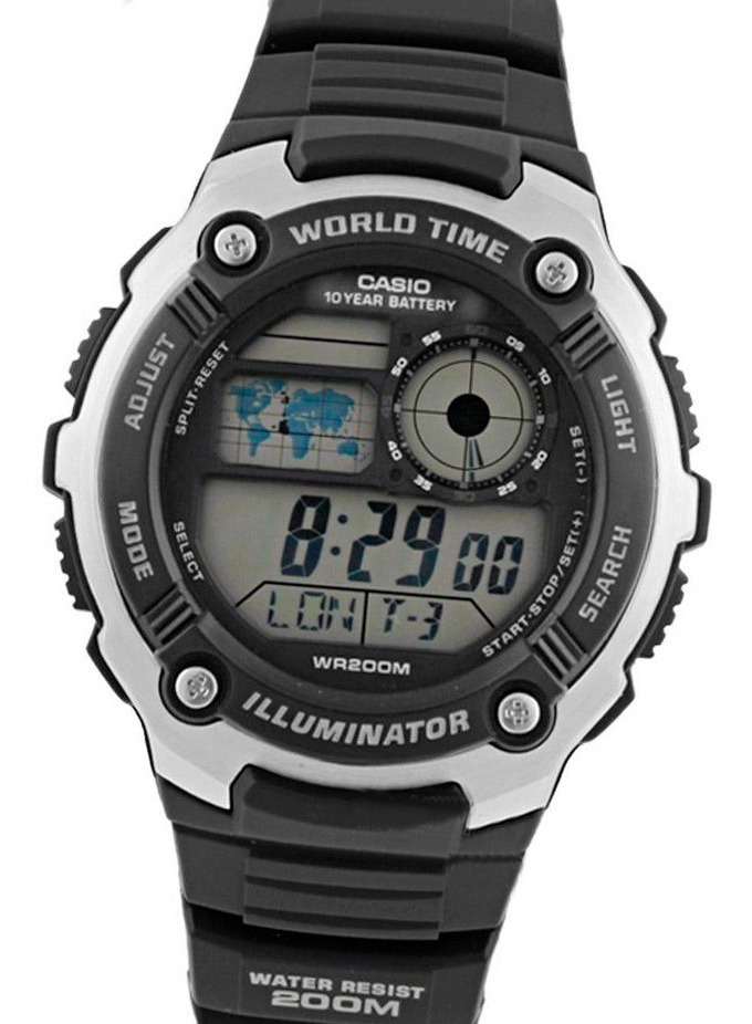 Reloj Casio Ae 2100w 200m Wr Pila 10 Años Cronografo Buceo Envio Gratis Watch Fan Locales Palermo Saavedra
