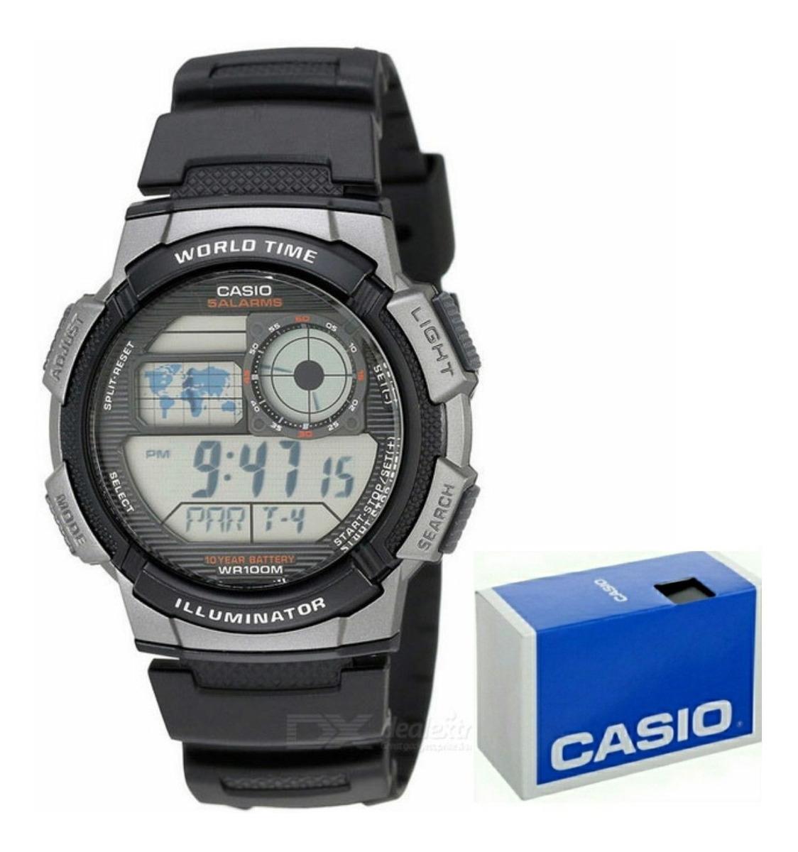 Reloj Casio Hora Alarmas Temporizador 5 Ae1000 Mundial Crono 8wO0Pkn