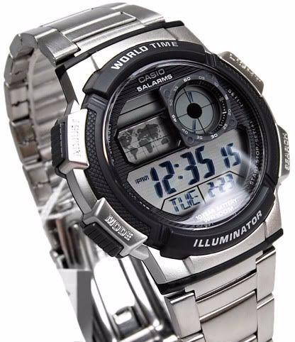 reloj casio ae1000w acero caballero sport original nuevo
