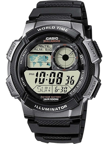 reloj casio ae1000w cronómetro alarma 10 bar precio oferta