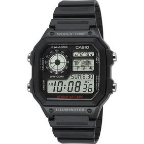 Reloj Casio Ae1200 Illuminator Wr 5 Alarmas Incluye Envio