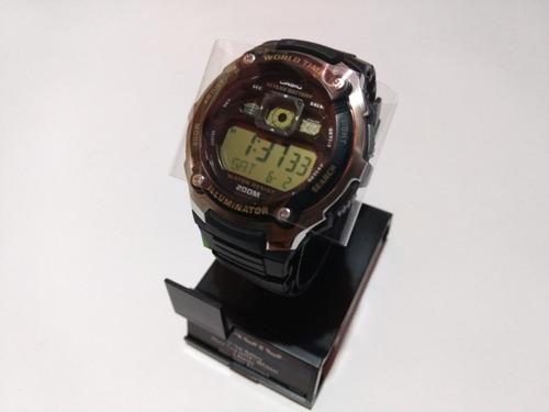 reloj casio ae2000 sumergible 200 mts 5 alarmas