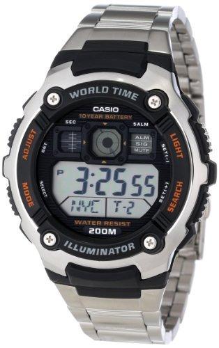 reloj casio ae2000wd-1av - plateado