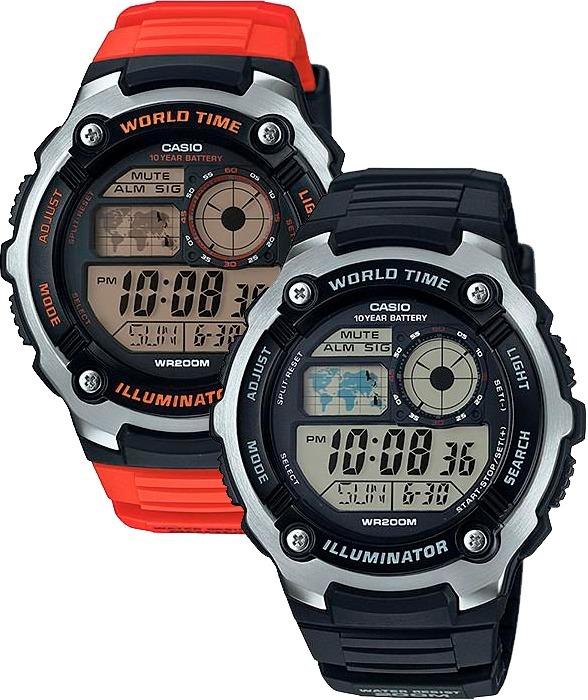 Reloj Casio Ae2100 Caucho - Cristal Mineral - Original Cfmx ... 8d25f36c276c