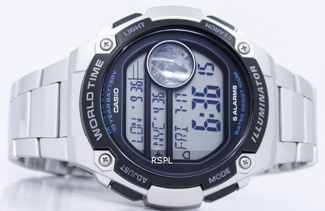 reloj casio ae3000 acero inoxidable caja grande cronometro. Cargando zoom. 90768ba7d349