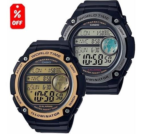 reloj casio ae3000 - hora mundial - pila de 10 años - cfmx -