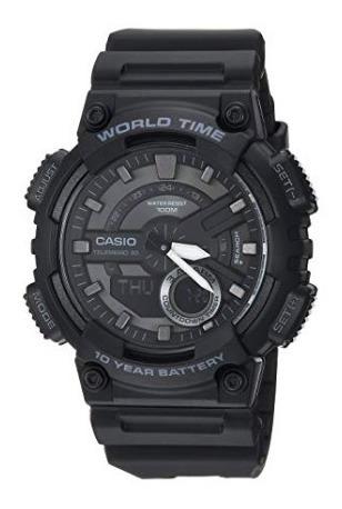 reloj casio aeq-110w-1bvcf - negro
