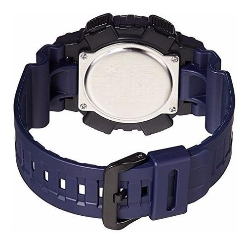 reloj casio aeq-110w-2a para caballero azul  original 100%