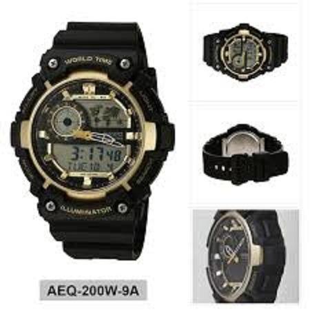 6cee071f71aa Reloj Casio Aeq-200w-9a Análogo digital Negro Para Hombre ...