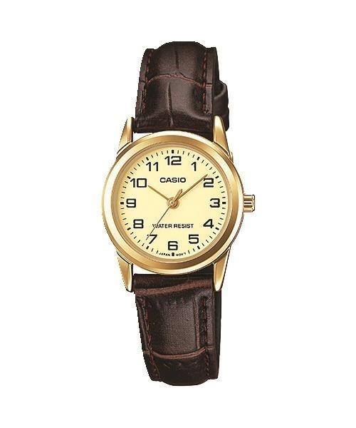 8dd5c7dc23c1 Reloj Casio Analógico Ltpv001gl-9b Mujer Malla Cuero Dorado ...