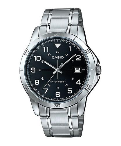 reloj casio analogo mtpv008 cristal mineral fechador acero