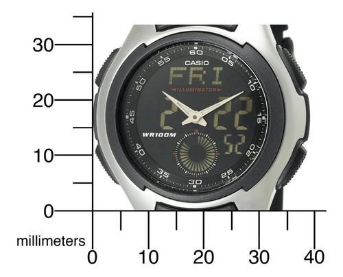 reloj casio aq-160w analogo digital resistente al agua 100m