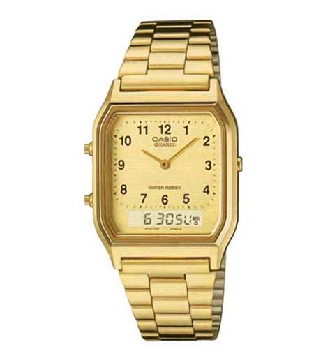 da2badfc11a2 Reloj Casio Aq-230ga-9b Clásico