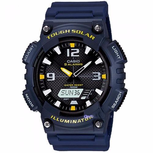 reloj casio aq-s810w-2avdf, energia solar, iluminacion led