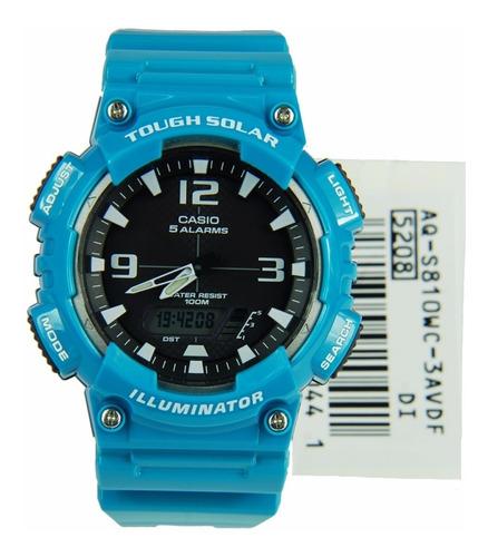 reloj casio aq-s810wc-3a para caballero en resina deportivo