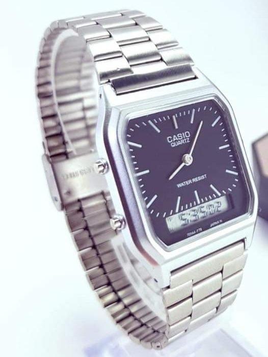 d4ddf0f0c549 Reloj Casio Aq230 Plata Negro Manecillas Y Digital Unisex -   429.00 ...