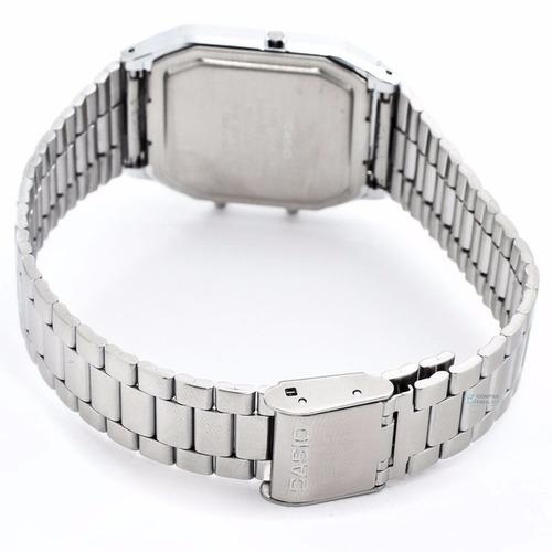 reloj casio aq230 plata - retro - 100% original - cfmx