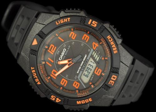 reloj casio aqs800 solar doble temporizador 5 alarmas