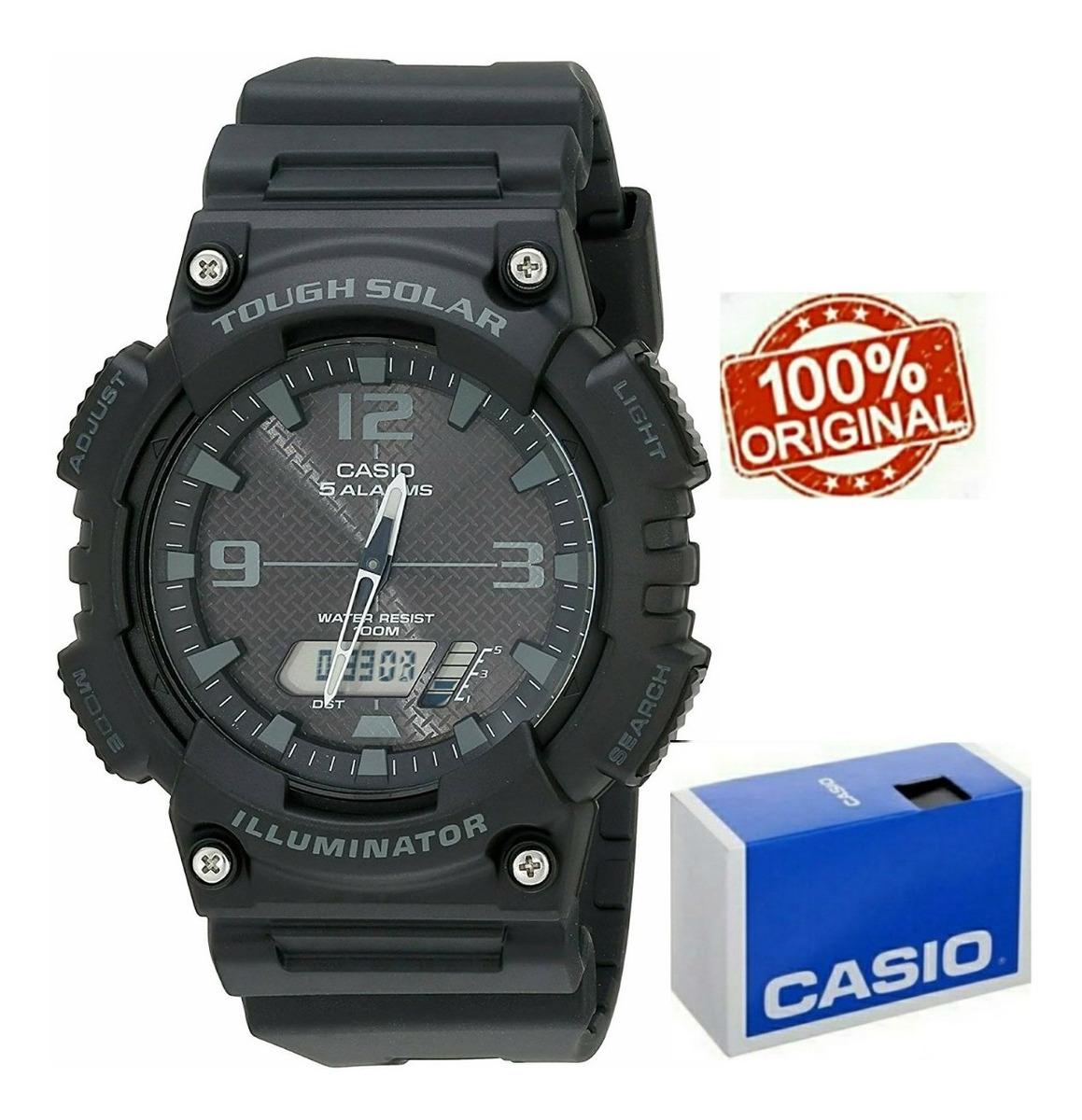 Alarmas Temporizador Aqs810 Solar Doble 5 Reloj Casio WQCoBrdxe