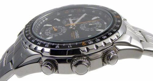 reloj casio aviator cronógrafo acero inox nuevo en caja