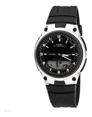 reloj casio aw 80 1a  modelo pulso en goma y acero