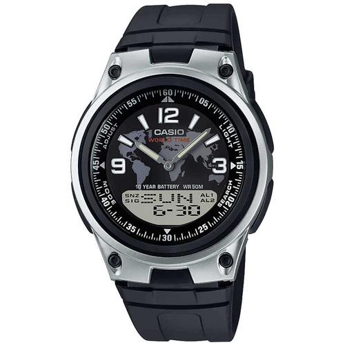 reloj casio aw-80-1a2v /análogo-digital, redondo para hombre
