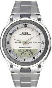 reloj casio aw 80 telememo illuminator original nuevo acero!
