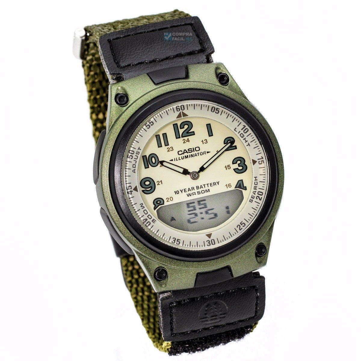 Luz Original Reloj Verde Aw Telememo 80 Gratis Casio Envío MzSpqUV