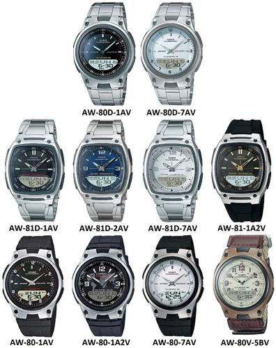 reloj casio aw-80d acero resistente agua original garantía