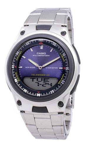 reloj casio aw-80d iluminaitor acero telememo original gtia