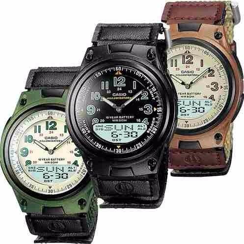 dd98cb844eab Reloj Casio Aw 80v Tres Colores 100% Original Pulso Lona -   103.800 en  Mercado Libre