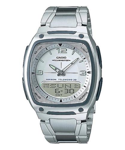reloj casio aw-81d resiste agua 50 m acero original garantía
