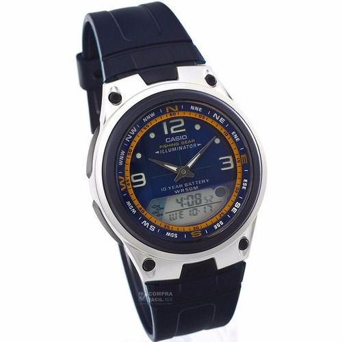 reloj casio aw 82 - fases lunares - cronómetro -  cfmx -