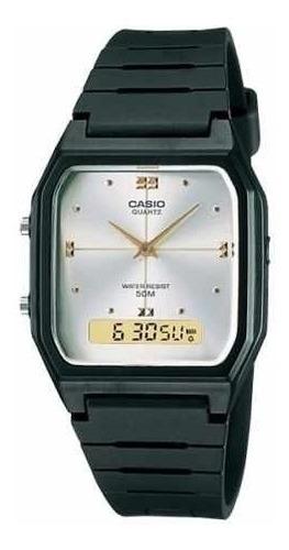 reloj casio aw48he-7av men's resin strap silver dial analog
