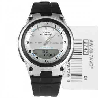 d8094722f927 Reloj Casio Aw80-7av Telememo Deportivo Analogo Y Digital ...