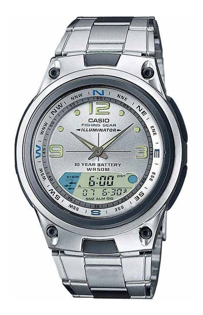 Reloj Lunar Comercio Fishing Casio 7a Fase Aw82d Oficial FJK1Tlc3