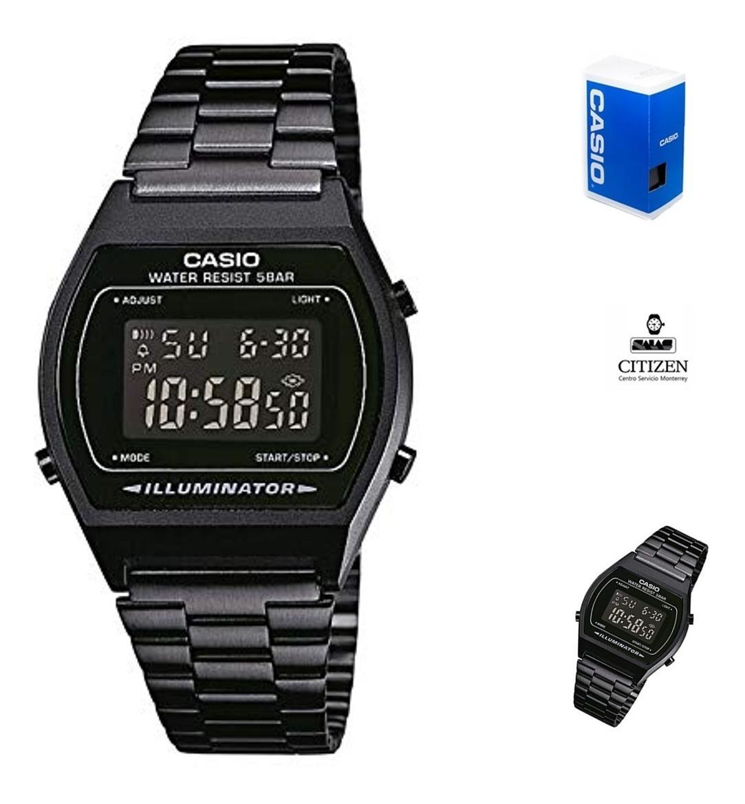 Retro Reloj Hombre Full Casio B640 Negro jGqLSUMVzp