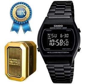 Reloj Casio Mate B640 Vintage Retro Negro Pavonado R5Aqcj3L4