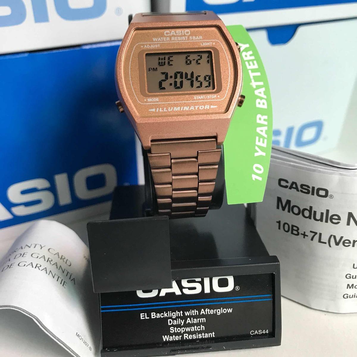 b962843f6fcb Reloj Casio B640 Rosa Vintage Retro Original -   599.00 en Mercado Libre
