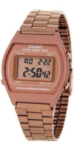 reloj casio b640wc-5a unisex rose gold retro style vintage d