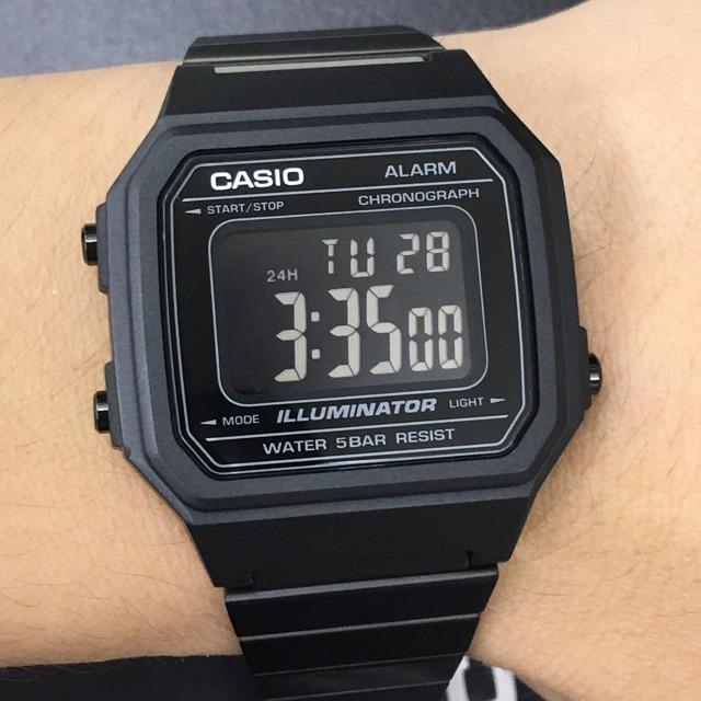 8bee8eff28de Reloj Casio B650 Vintage Retro Negro Pavonado Acero -   1