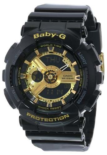 reloj casio ba-110-1acr baby-g negro